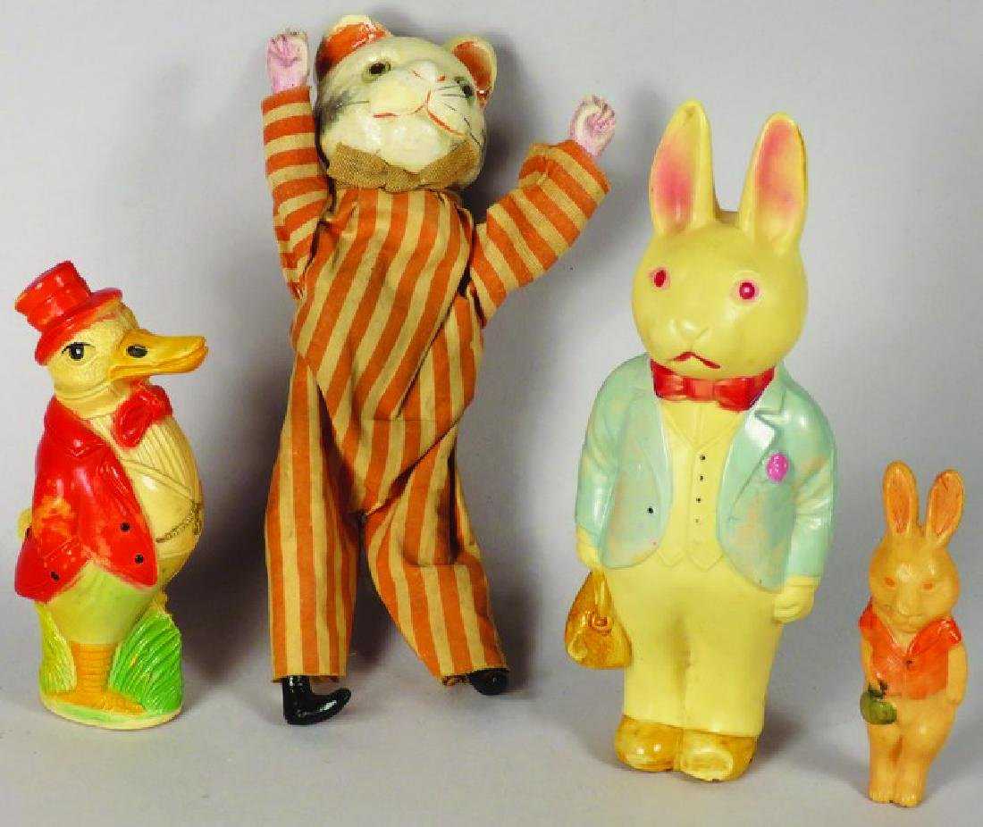 Collection of Three Vintage Celluloid Easter Toys