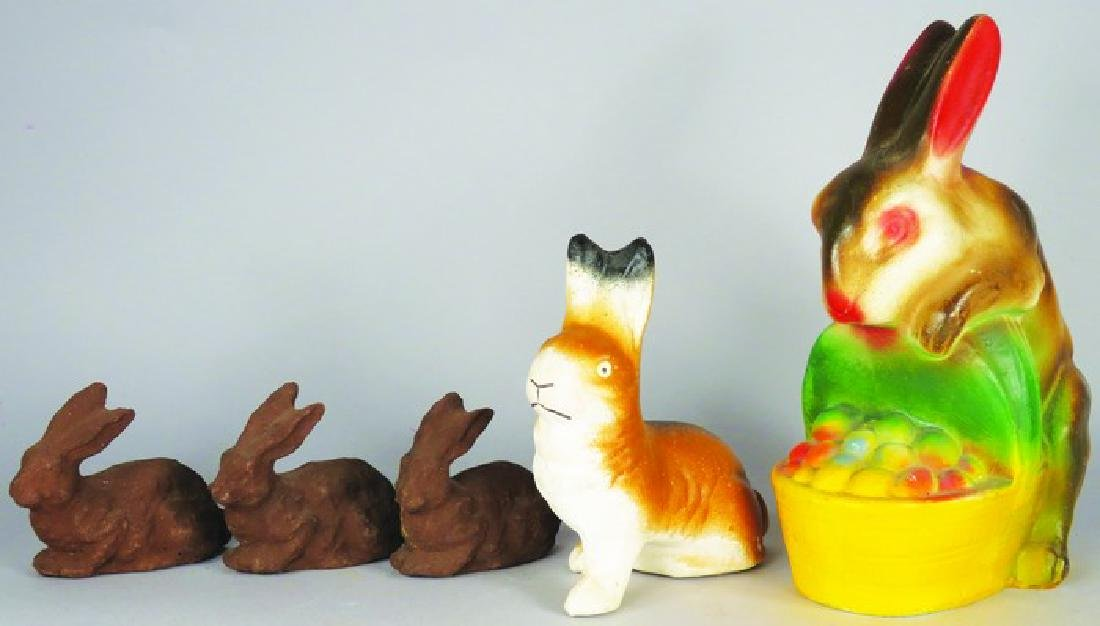 Assorted Vintage Easter Bunny Items