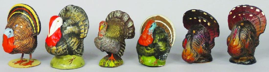 Collection of Vintage Thanksgiving Turkey Figures