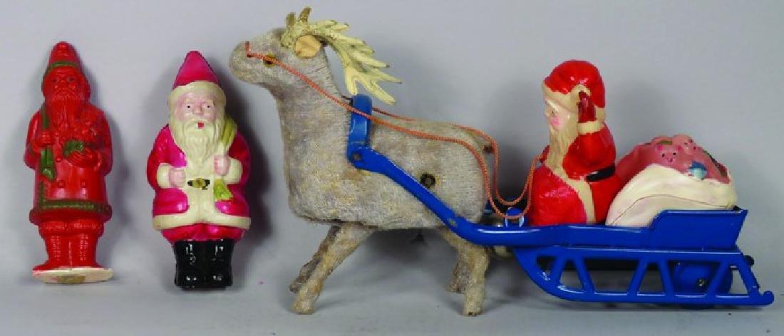 Collection of Santa Celluloid Toys. Good Condition.