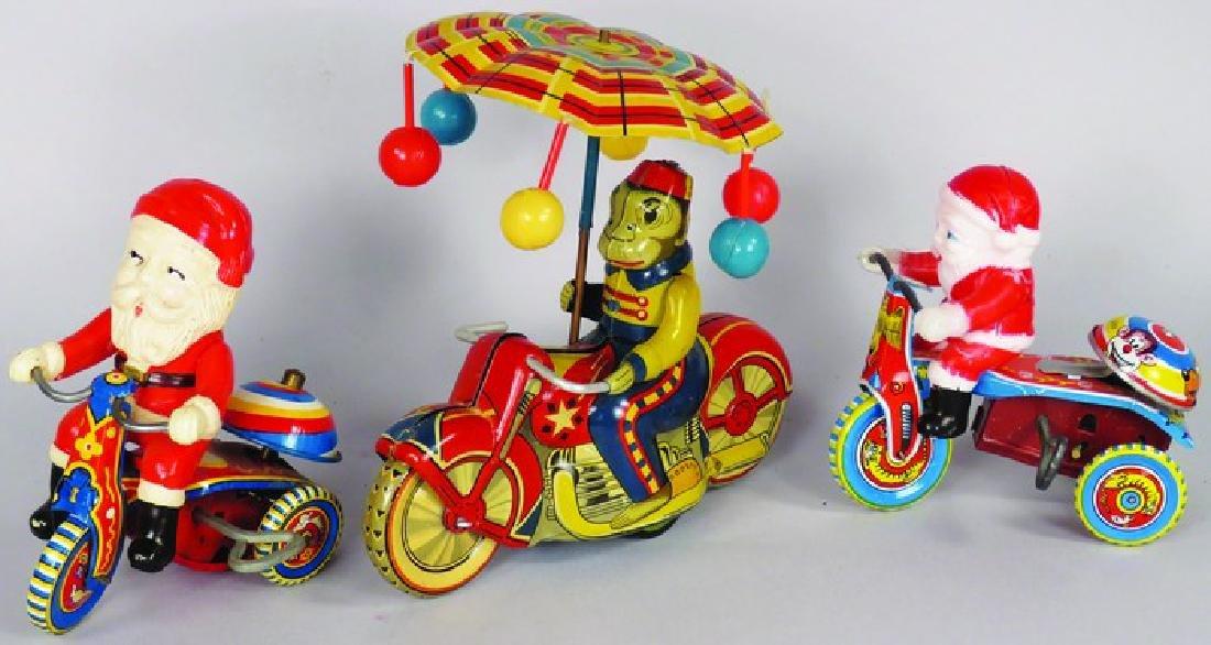 Three Vintage Tin Litho and Celluloid Toys
