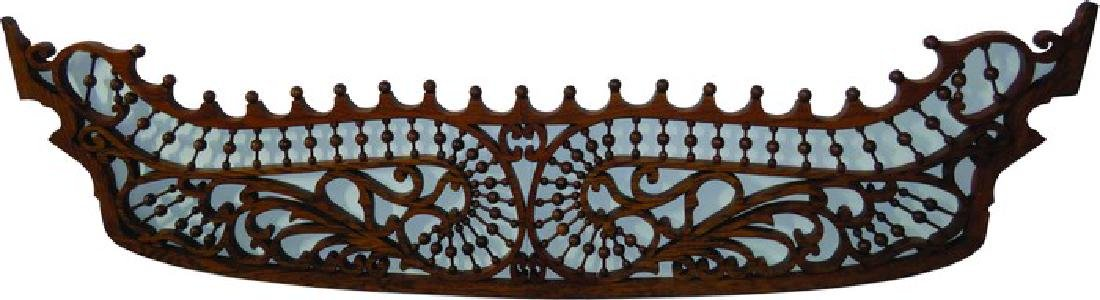 Pair of Oak Fretwork Panels