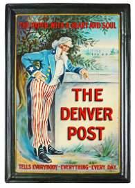 The Denver Post Self Framed Tin Sign