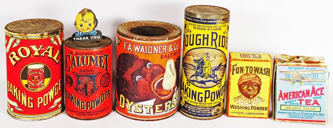 Collection of Six Country Store Tins and Boxes