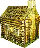 Johnson's Log Cabin Coffee Tin Store Bin