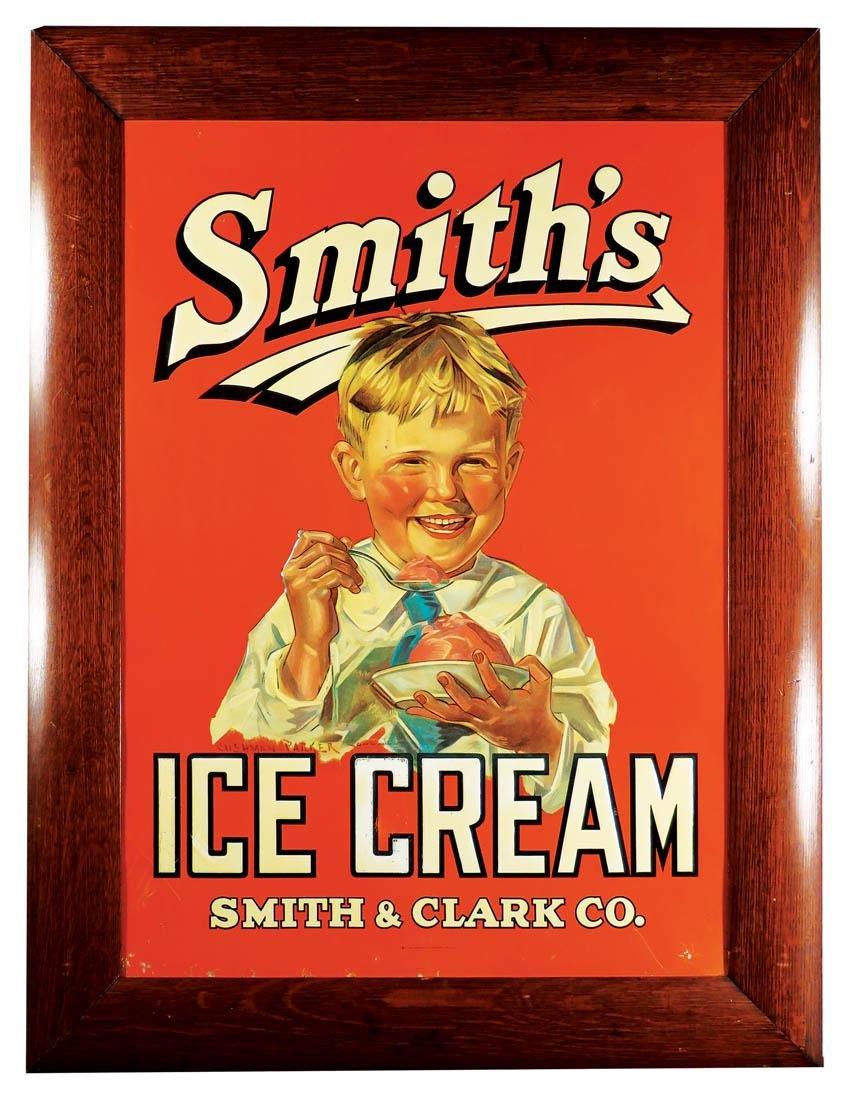 Smith's Ice Cream Embossed Tin Sign
