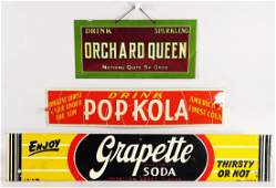 Three Tin Advertising Signs