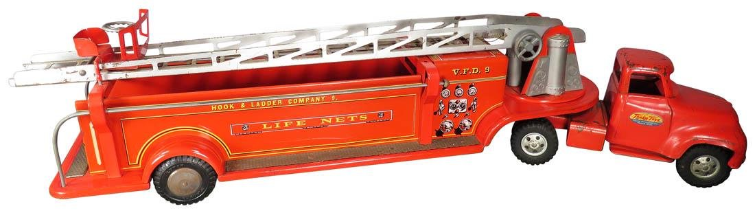 Tonka Pressed Steel Toy Extension Ladder Truck