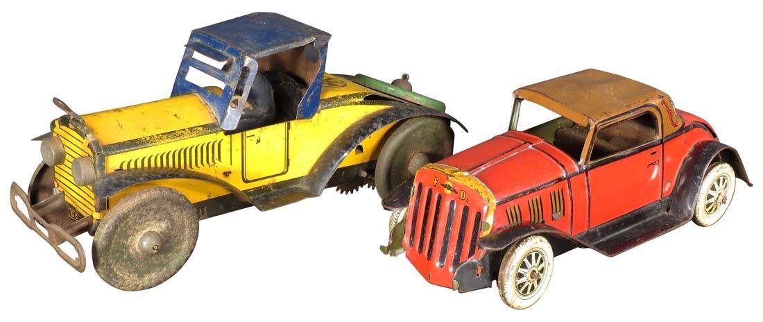 Two Louis Marx Tin Litho Wind Up Toys