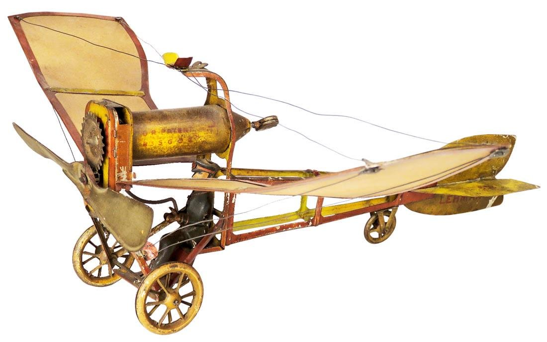 Lehmann Ikarus 653 Lithographed Tin Airplane Toy