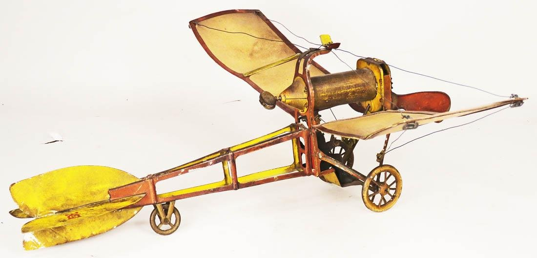 Lehmann Ikarus 653 Lithographed Tin Airplane Toy - 2