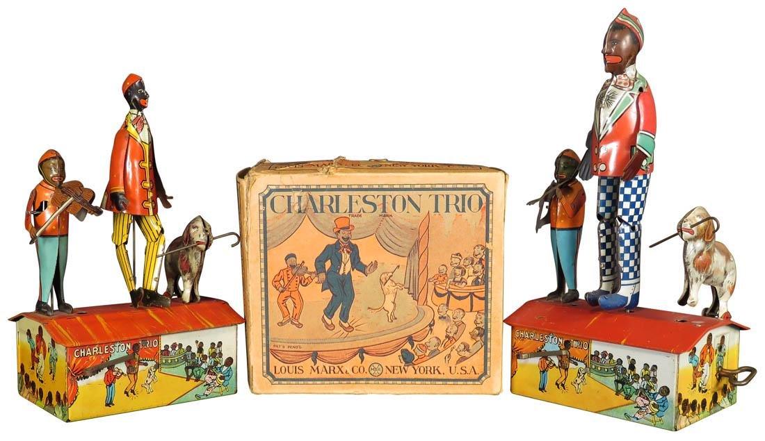 Two Louis Marx Tin Litho Charleston Trio Toys