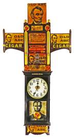 Abraham Lincoln Cigars 1920's Advertising Clock