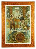 Rare Henry Hunter Rye Whiskey Tin Sign