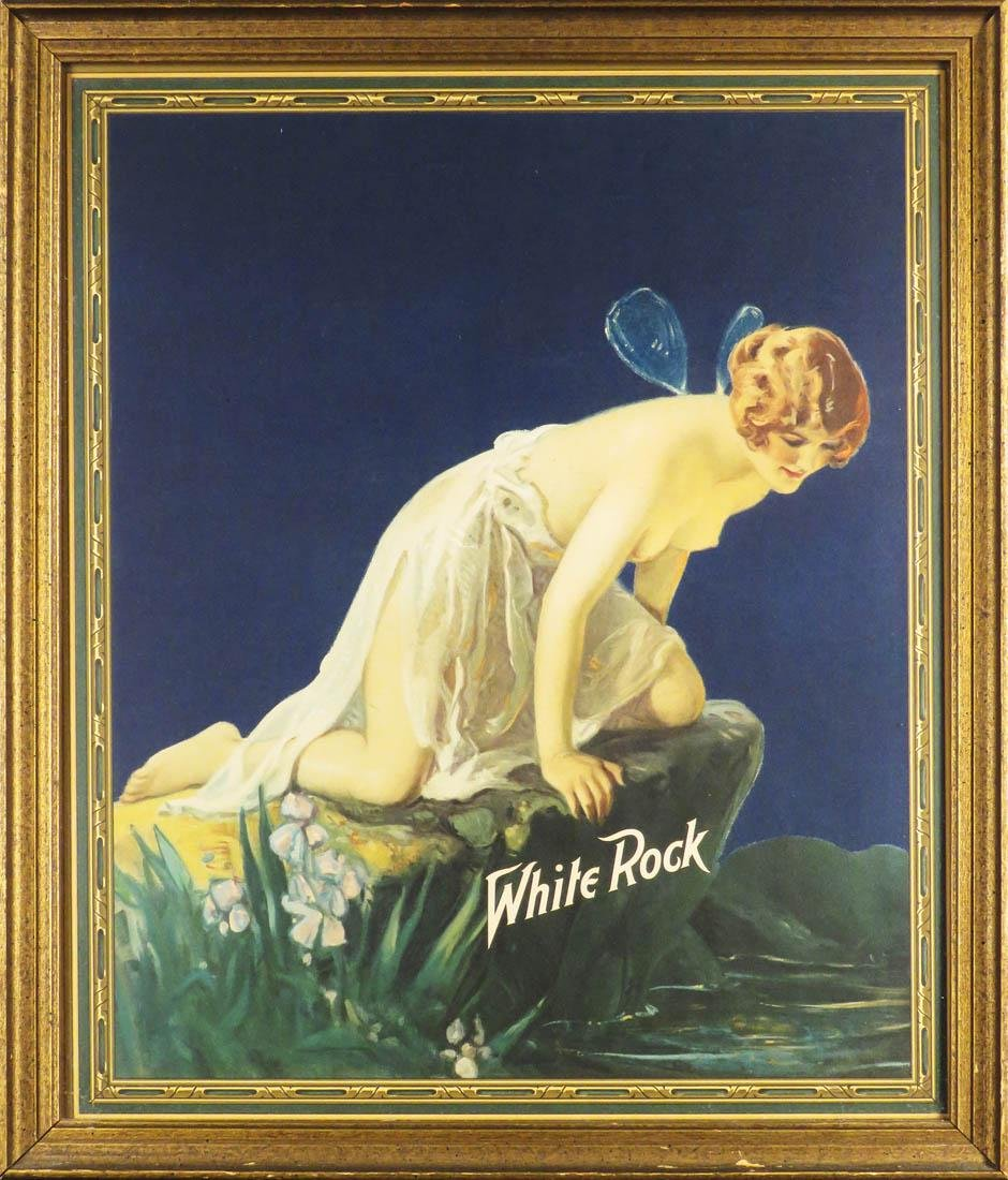 White Rock Natural Spring Water Paper Sign