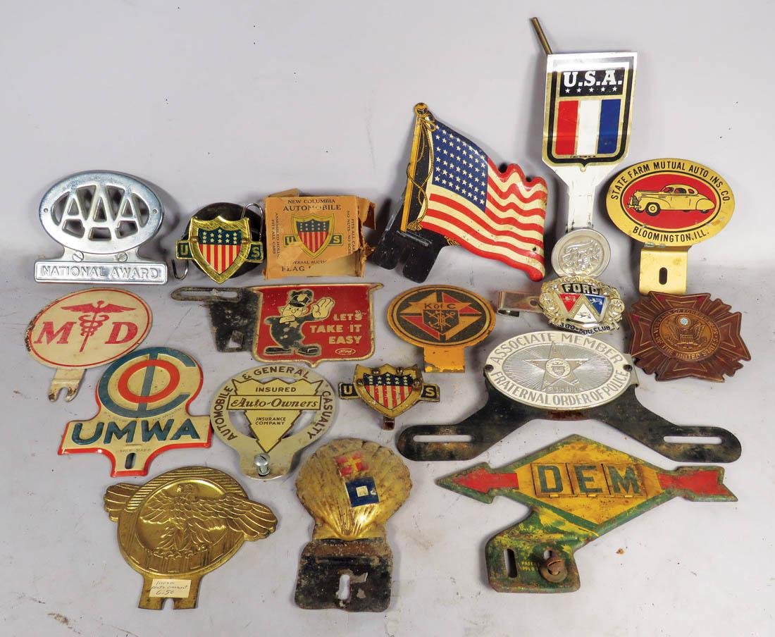 Misc Badges and License Plate Toppers