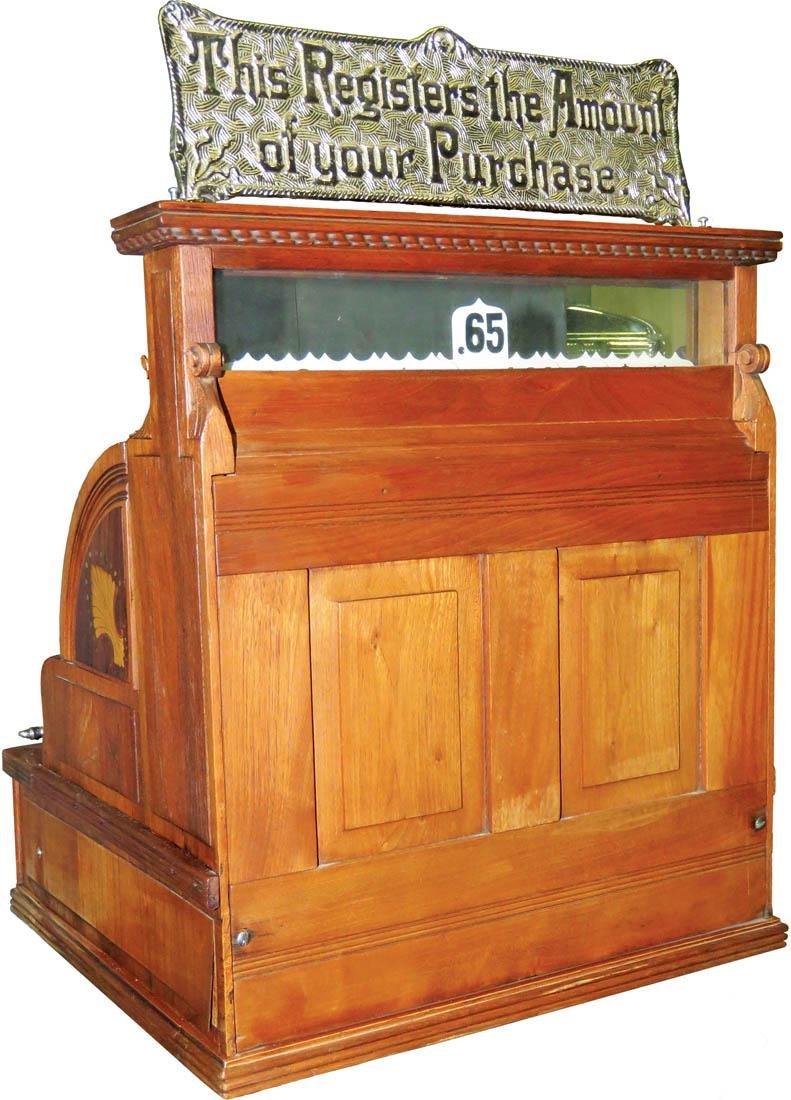 Inlaid Wood National Cash Register Model - 3