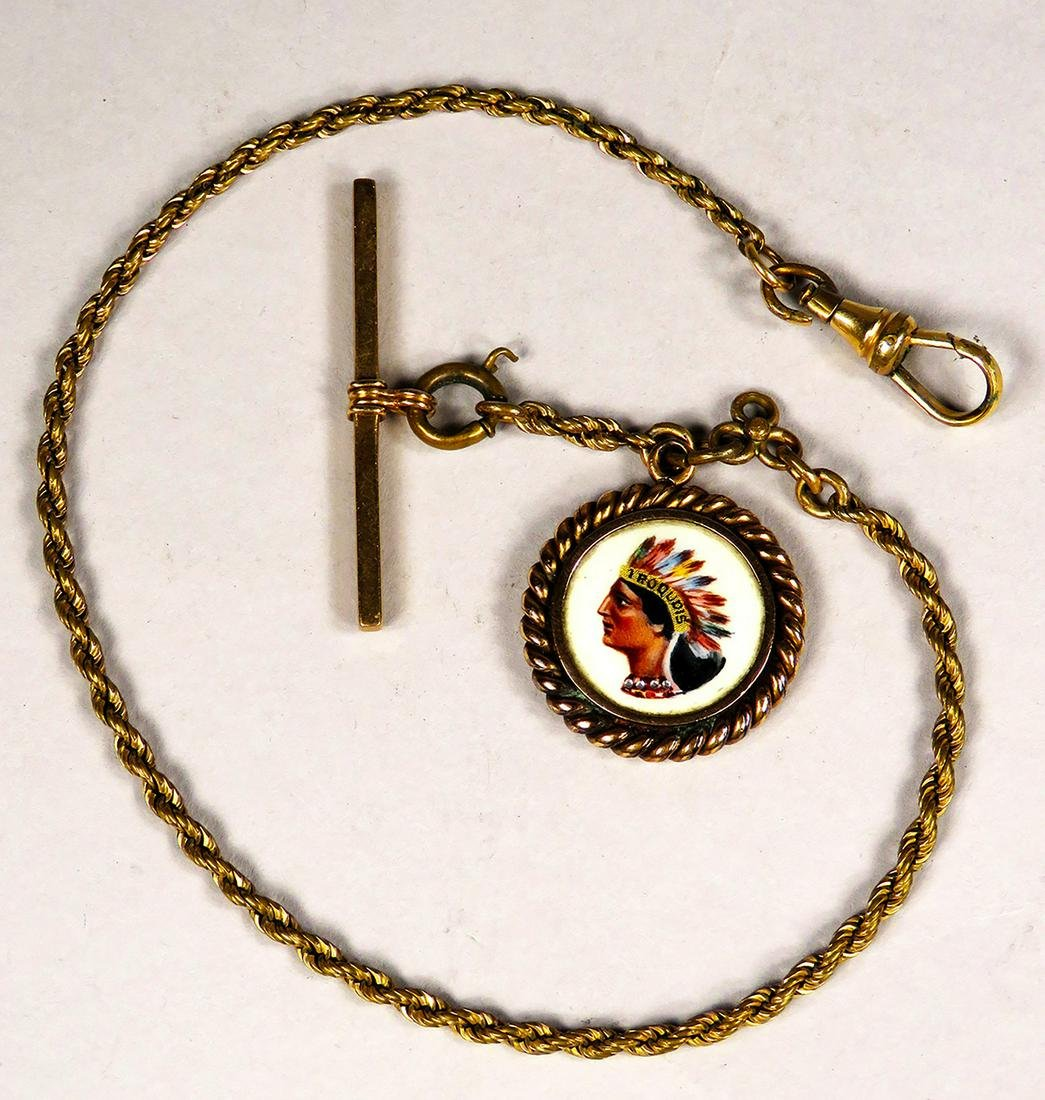 Antique Advertising Iroquois Brewing Co. Watch Fob