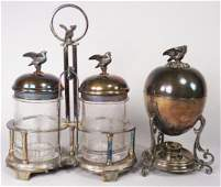 Victorian Silver Plate Egg Heater and Pickle Castor