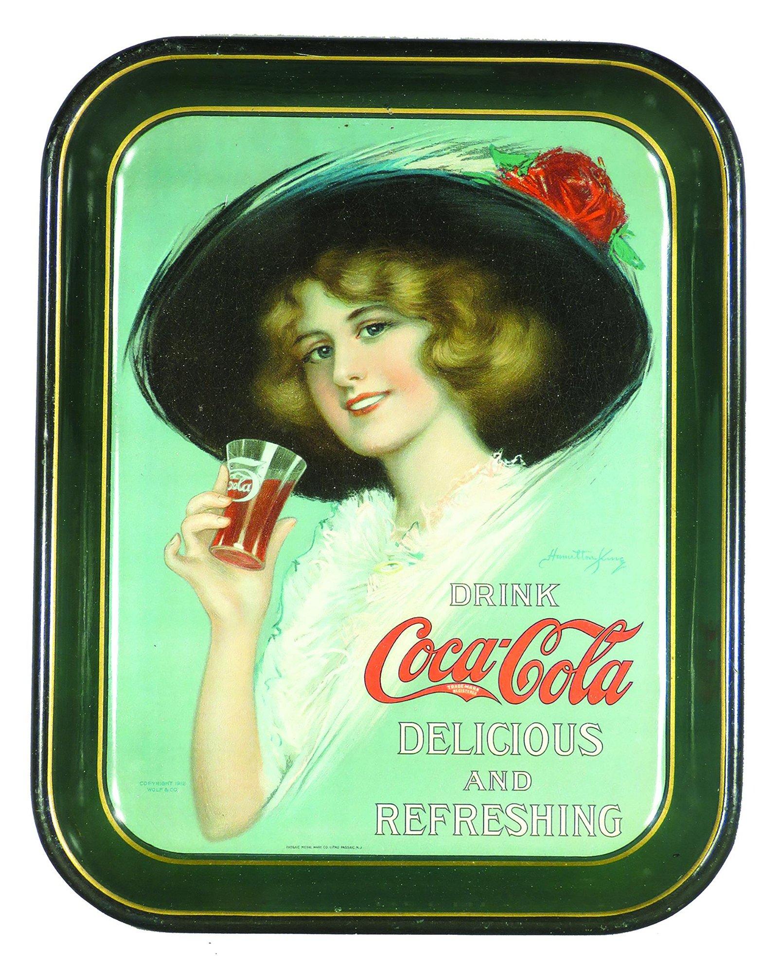 1912 Original Coca Cola Tin Serving Tray