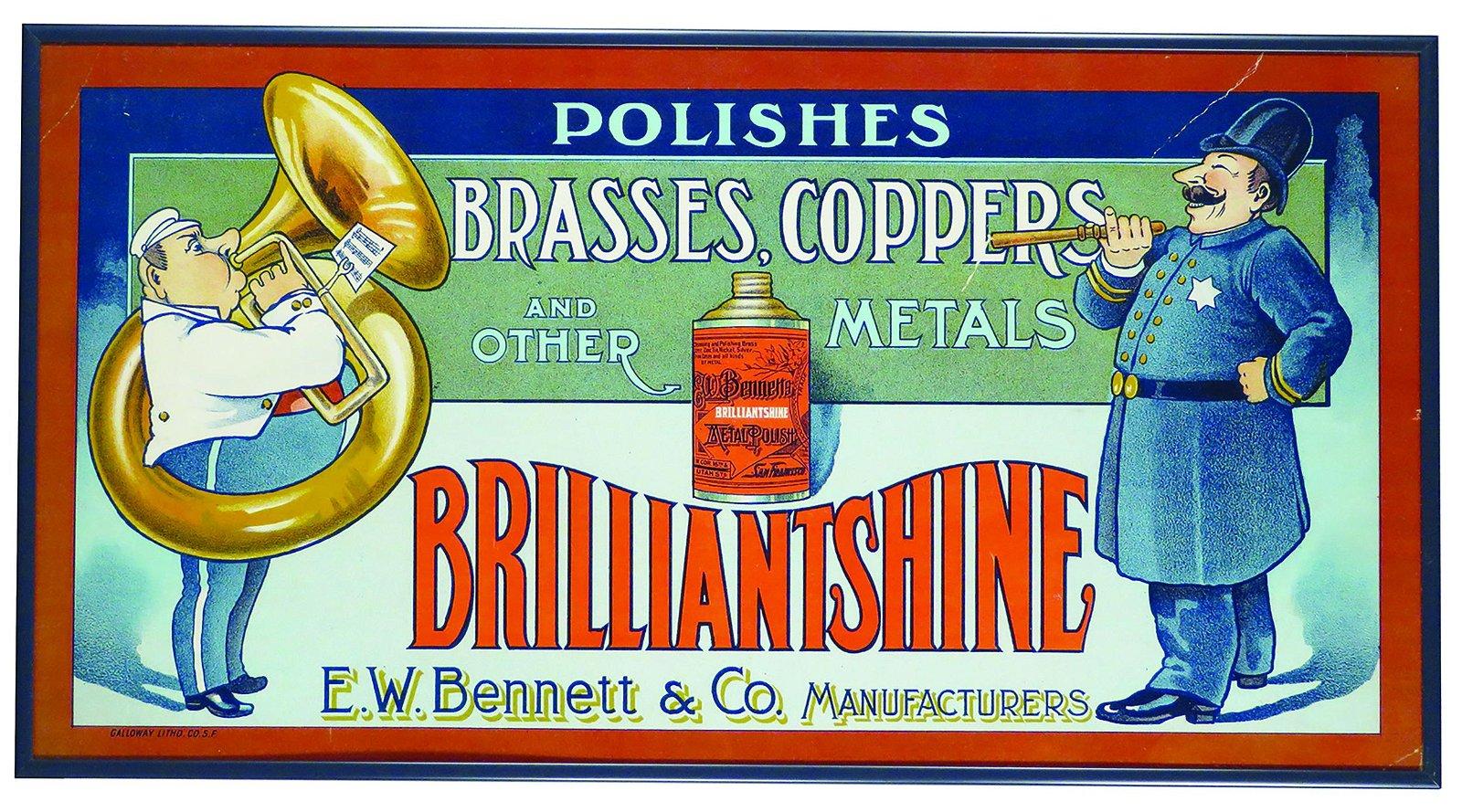 Two Brilliantshine Trolley Car Advertising Signs