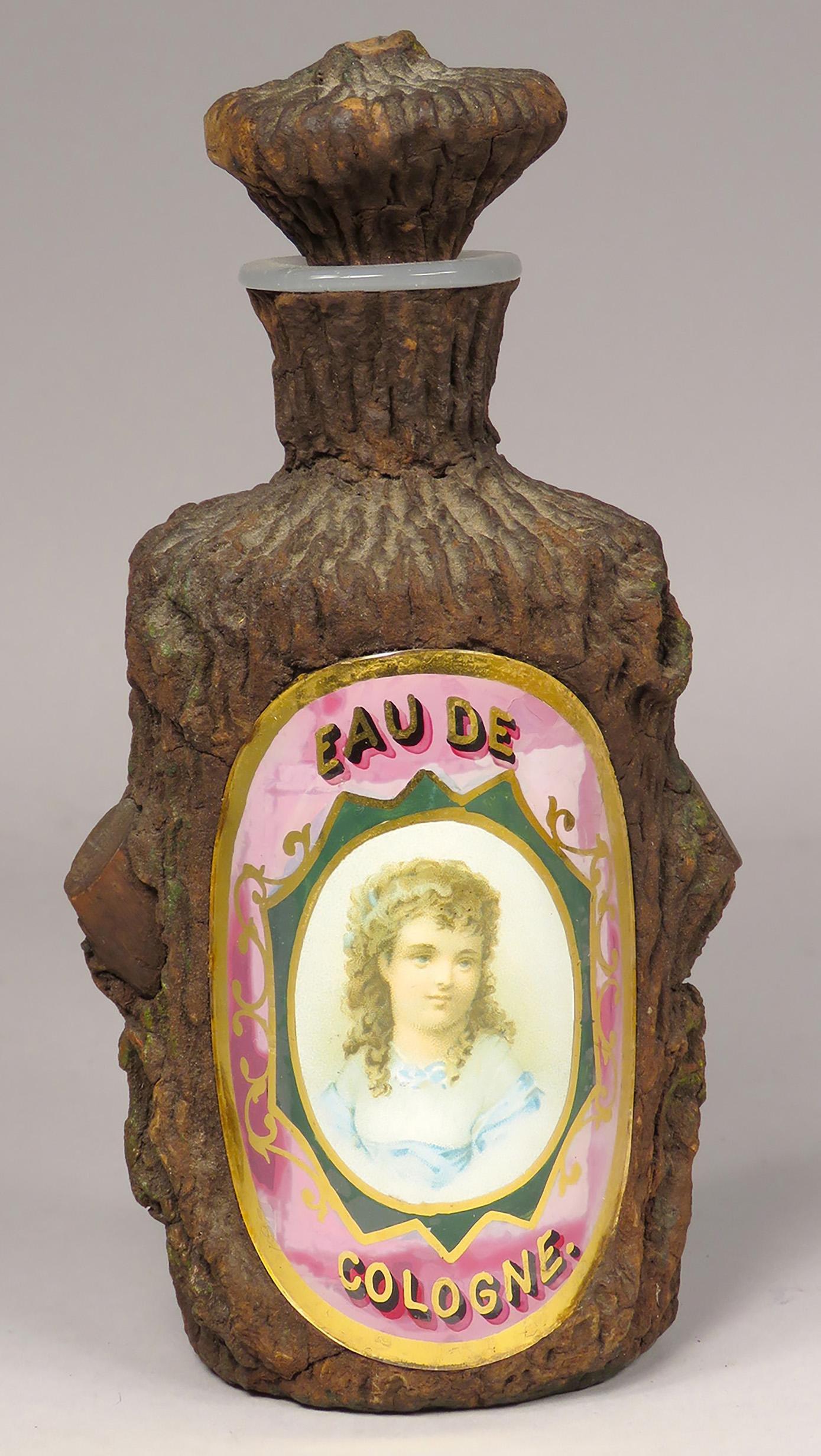 Antique Faux Tree Bark Perfume Bottle