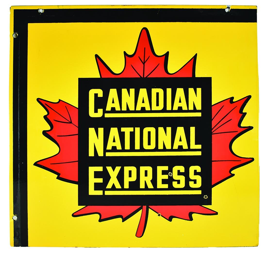 Canadian National Express Porcelain Advertising Sign