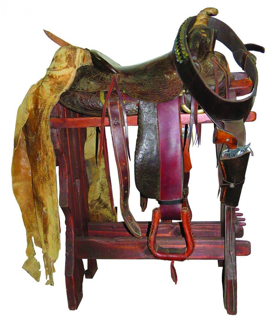 Lee Robinson Tooled Leather Vintage Saddle