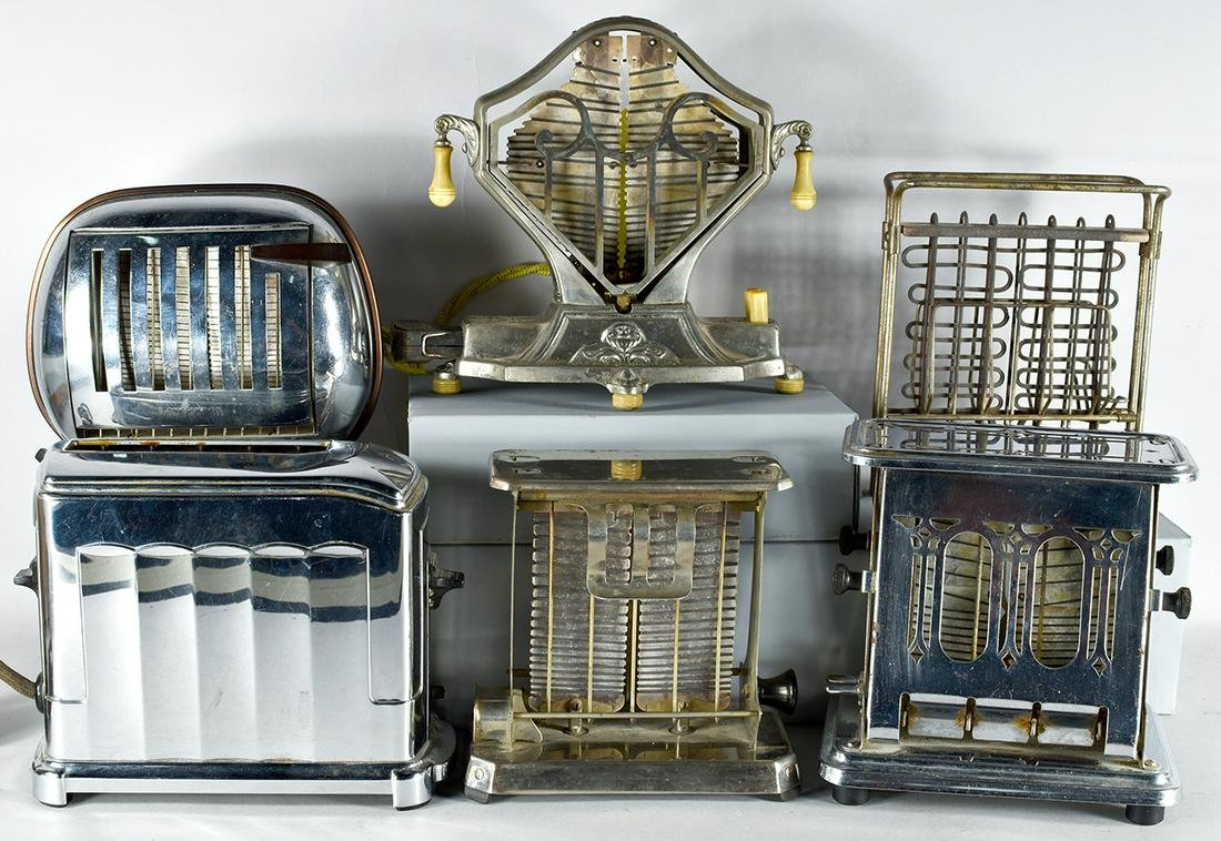 Collection of 6 Vintage Toasters including an X-2