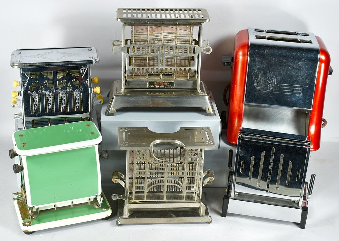 Collection of 6 Vintage Toasters