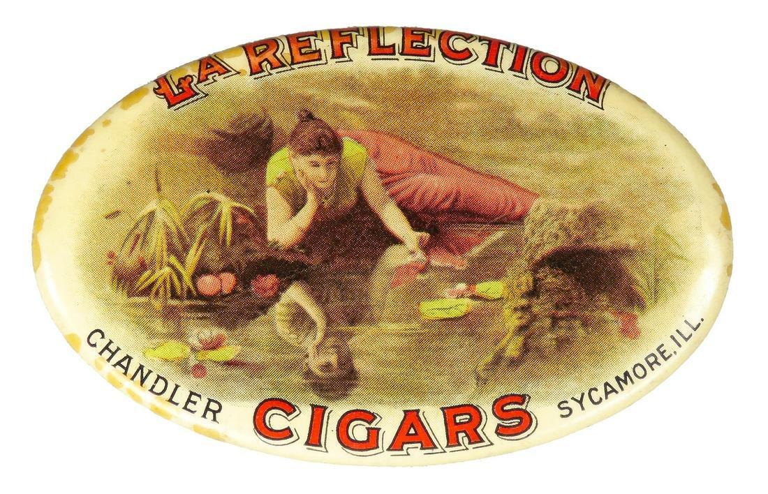 Antique Advertising Celluloid Pocket Mirror