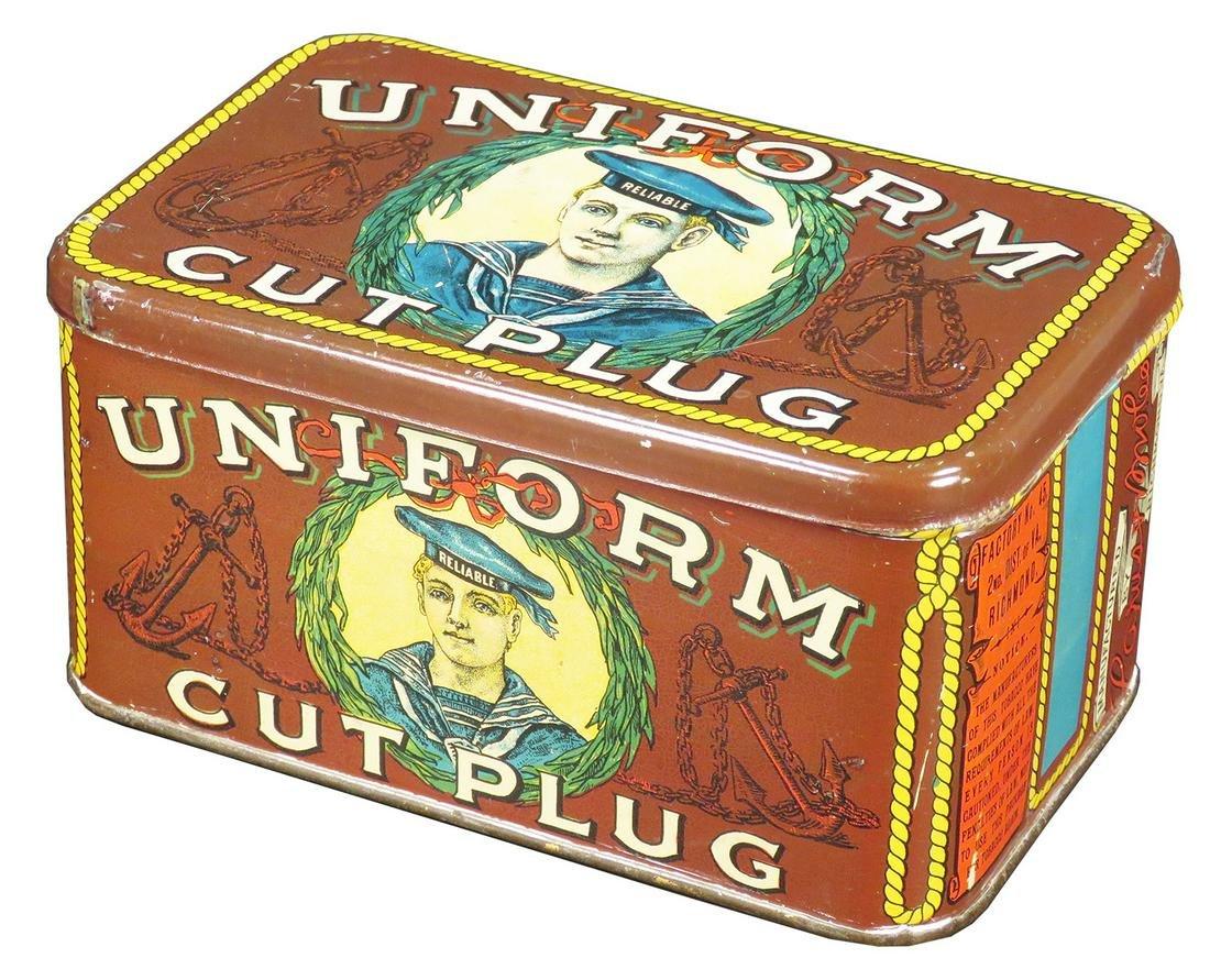 Uniform Cut Plug Tobacco Tin