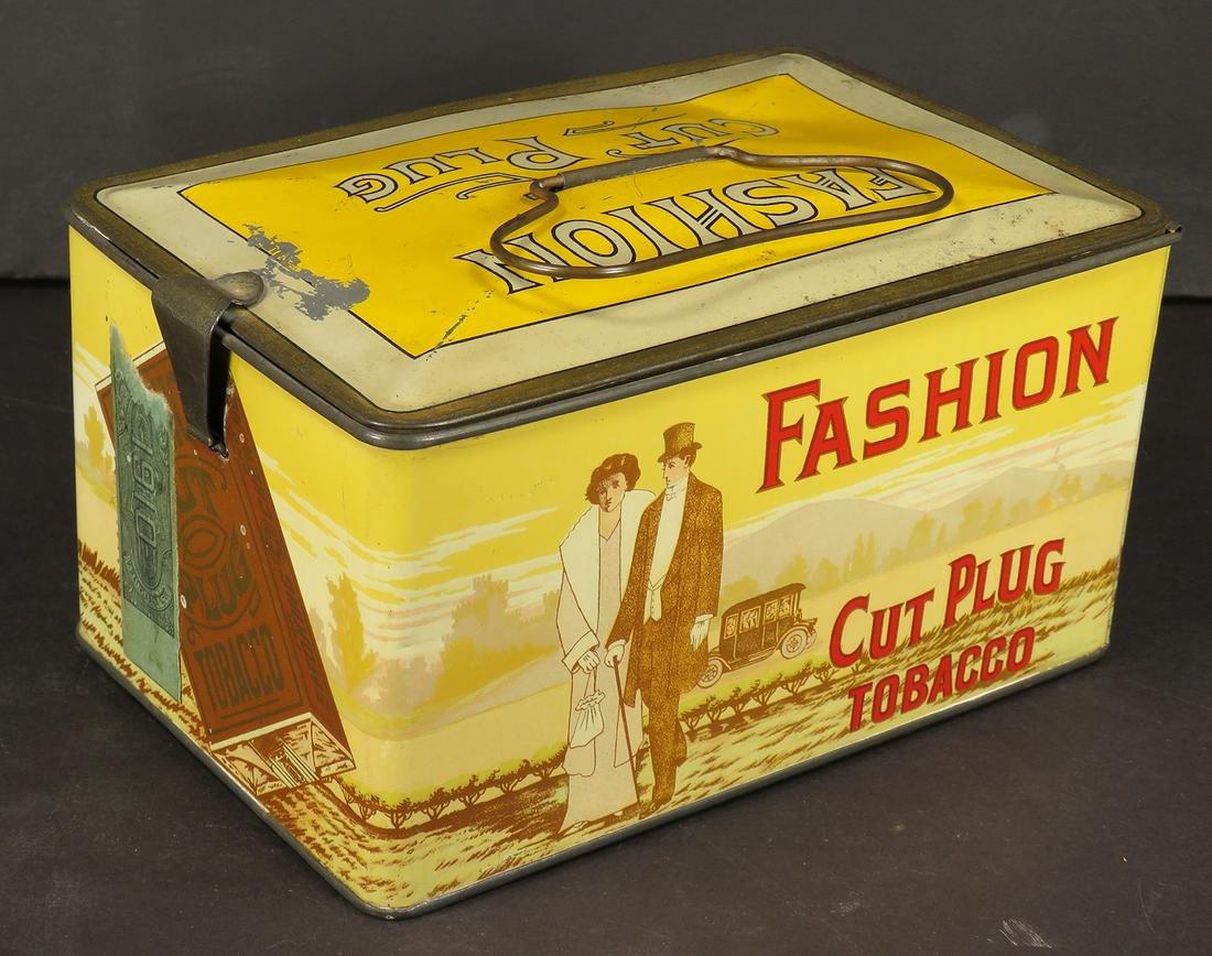 Fashion Cut Plug Tobacco Lunch Pail Tin