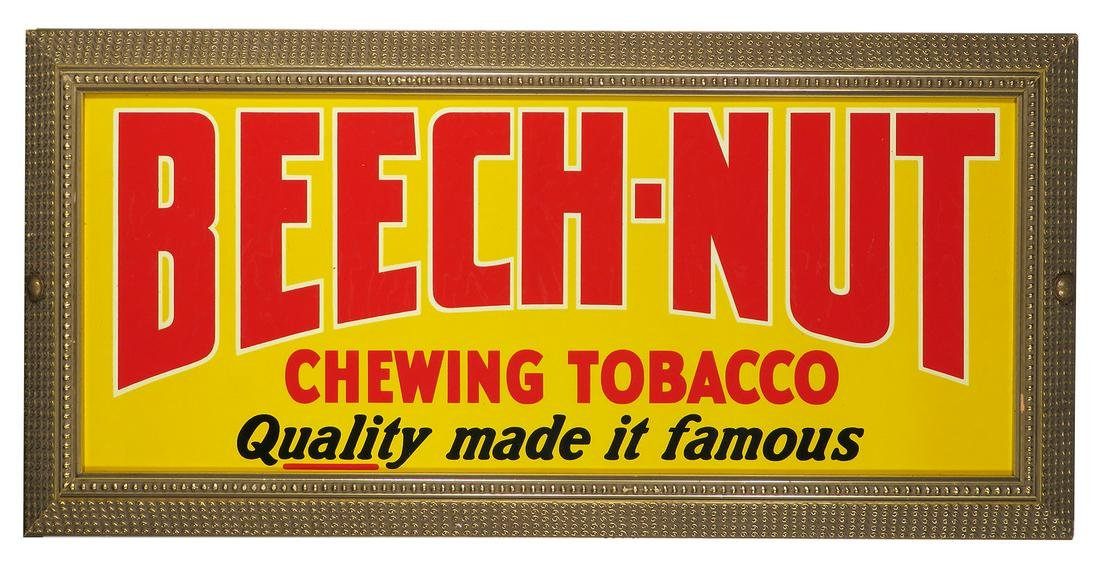 Beech Nut Chewing Tobacco Tin Advertising Sign