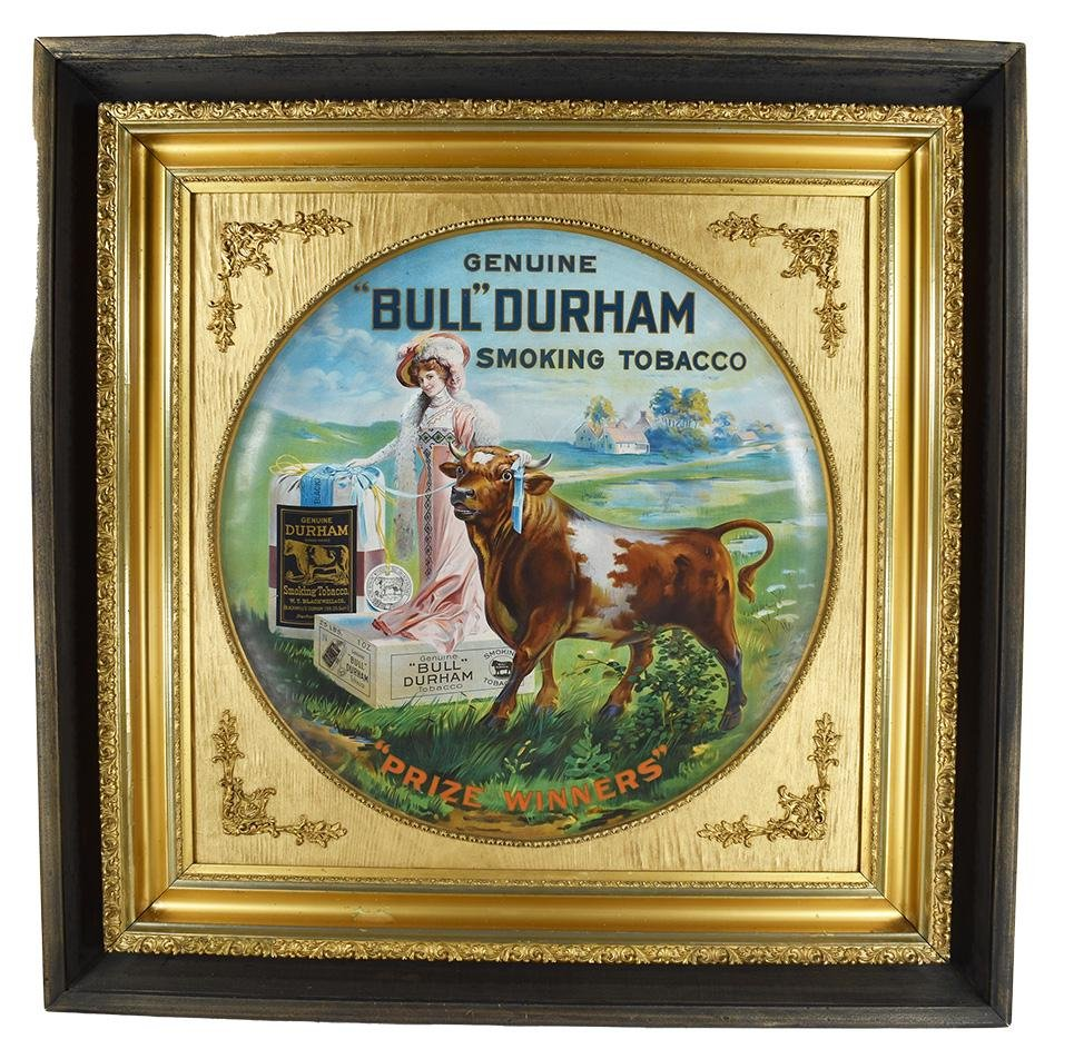 Bull Durham Tobacco Tin Advertising Charger