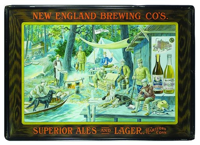 New England Brewing Co's Self Framed Tin Sign
