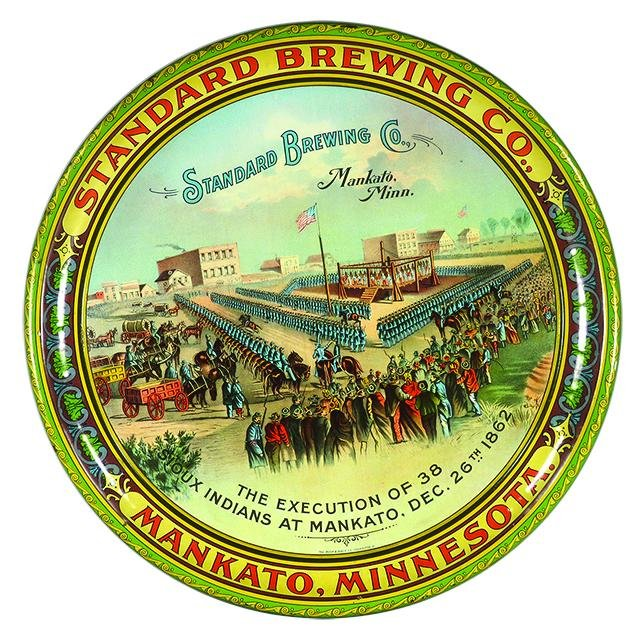 Standard Brewing Co. Advertising Tin Serving Tray