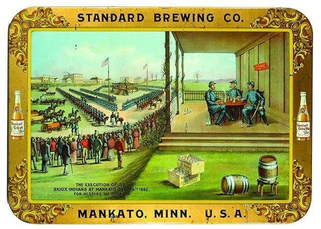 Standard Brewing Co. Advertising Tin Sign