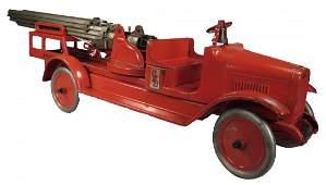 Buddy L Toy Hydraulic Aerial Ladder Fire Truck