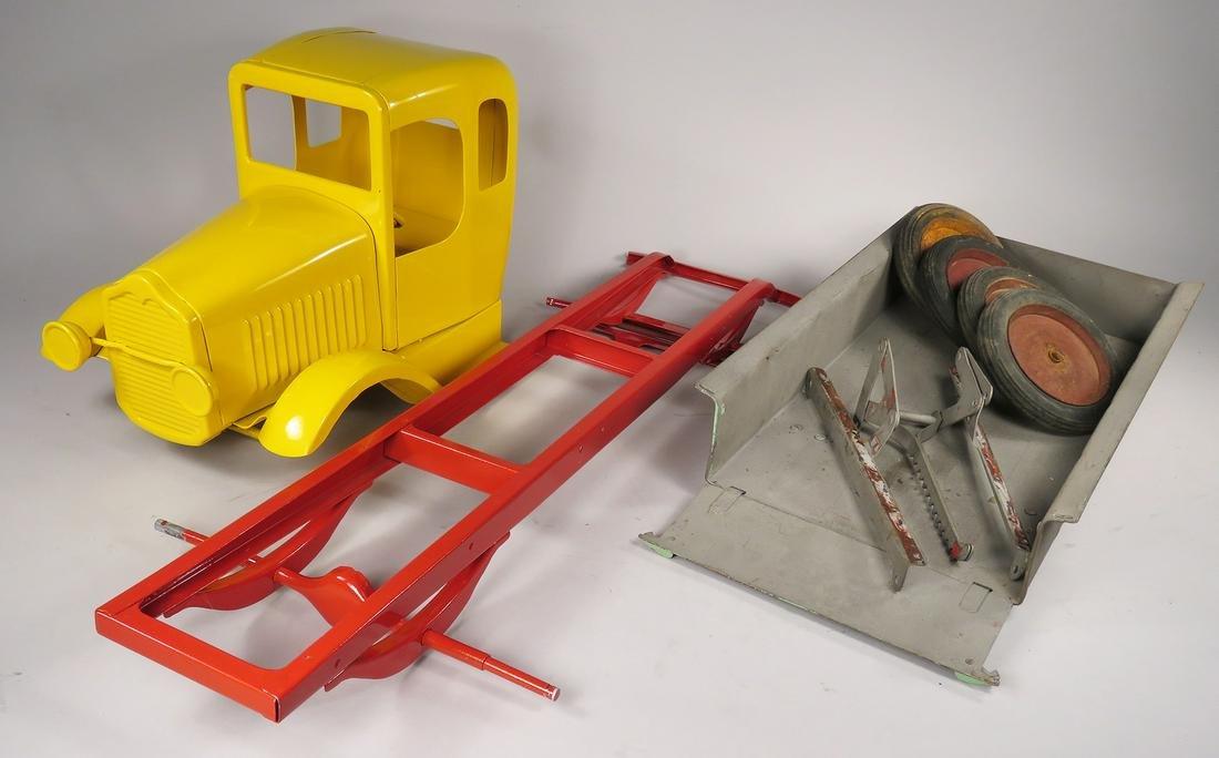 Vintage Pressed Steel Hoenes, Toy Truck