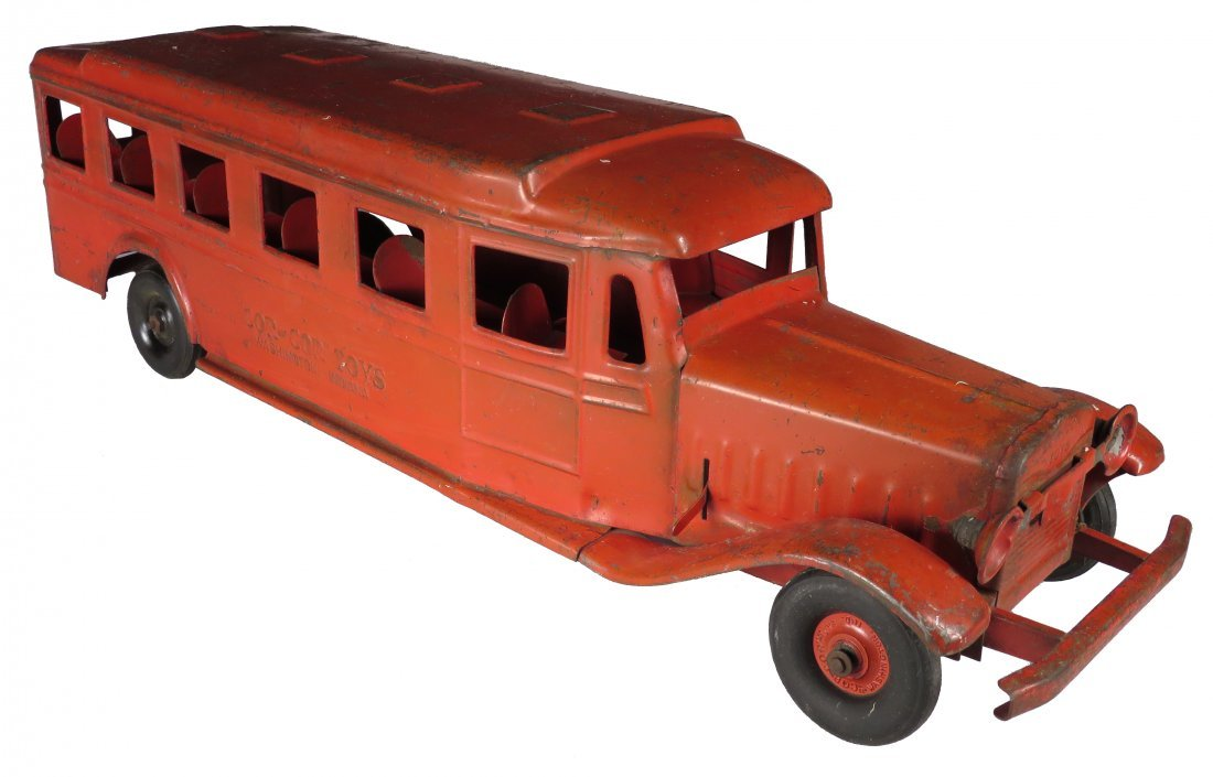 Cor-Cor Pressed Steel Toy Bus