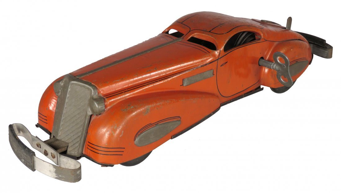 Marx Streamline Auto Tin Wind-Up Bump & Go Toy