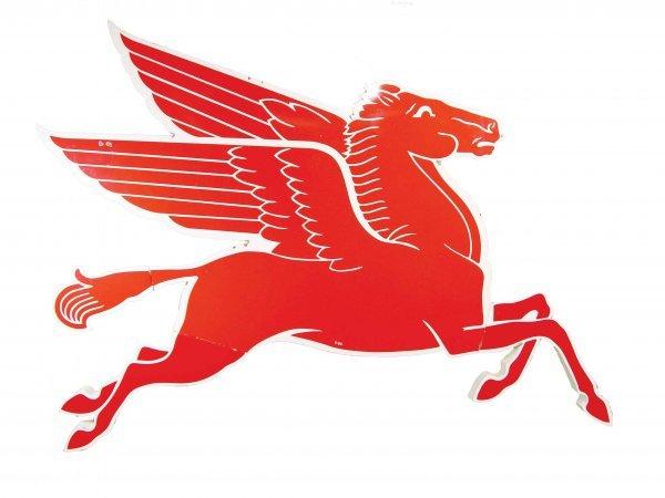 807: Mobil Oil Co. Porcelain Pegasus Advertising Sign