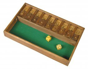Early French Wood Dice Game