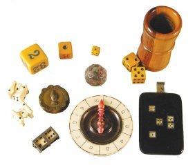 1146: Lot of Ten Misc. Gambling Items