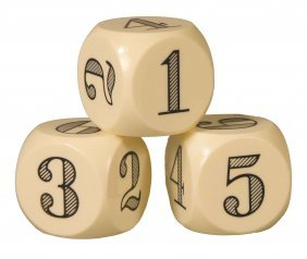 1152: Set of Three Large Catalin Ball Dice