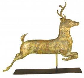 1326: Buck Deer, Weathervane, full body. Cast Zinc head