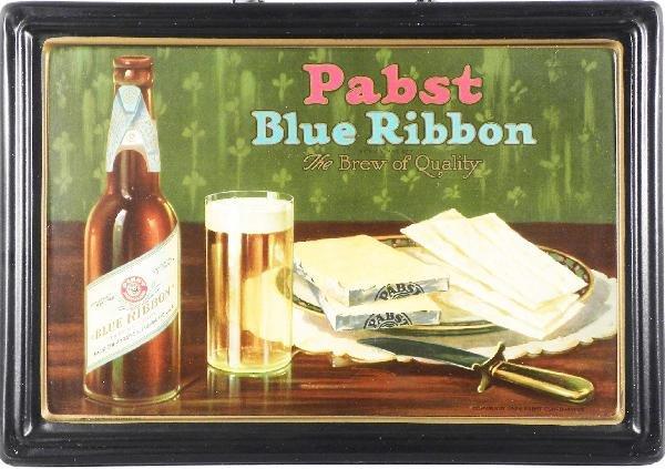 509: Pabst Blue Ribbon Beer Self-Framed Tin Sign