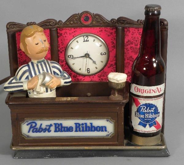 511: Pabst Blue Ribbon Beer Back Bar Display Clock
