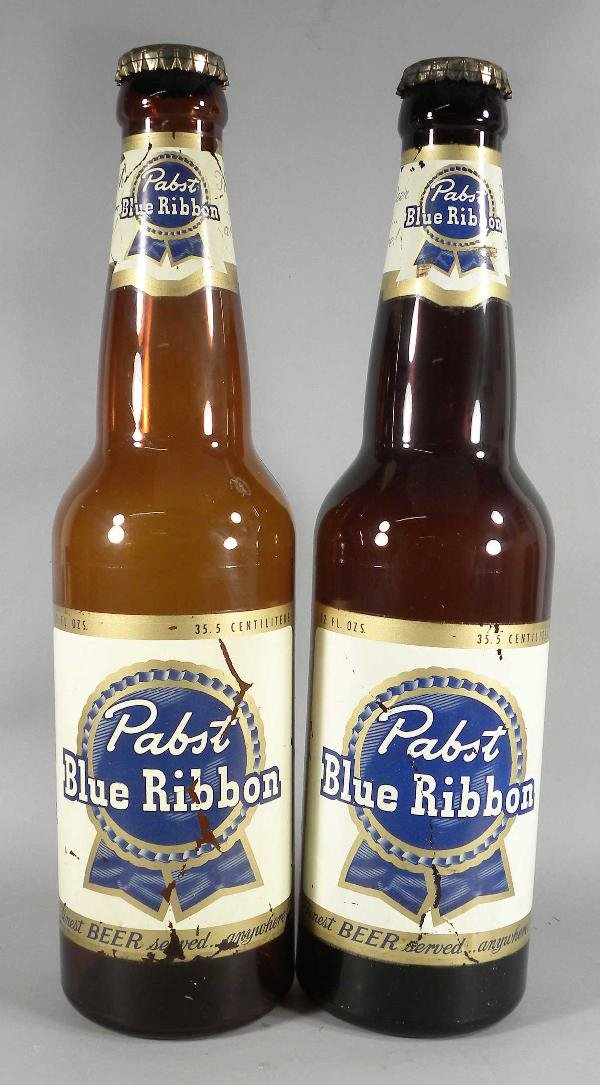 513: Lot of Two Pabst Blue Ribbon Display Bottles